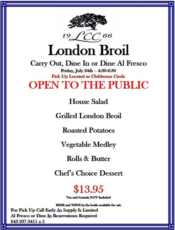 Image: Litchfield Country Club London Broil